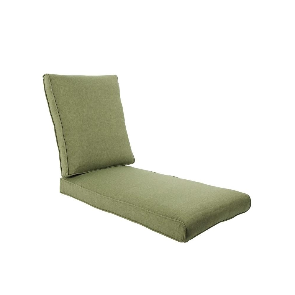 Outdoor Cushions For Chaise Lounge Chairs Pertaining To Well Known Hampton Bay Pembrey Replacement Outdoor Chaise Lounge Cushion (View 7 of 15)