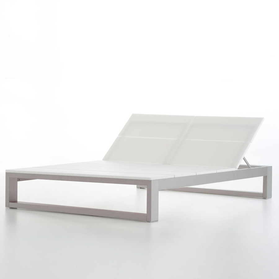 Outdoor Double Chaises Regarding Most Up To Date Double Outdoor Chaise Lounge Es Cavallet Gandia Blasco (View 2 of 15)