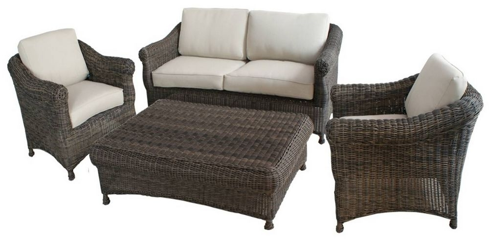 Outdoor Sofa Chairs Pertaining To 2017 Modern Outdoor Garden Furniture Rattan Sofa 4Pcs Set Omr F (View 5 of 10)