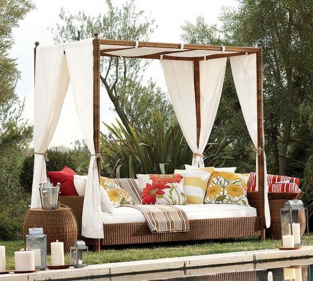 Outdoor Sofas With Canopy In Well Known 19 Delightful Outdoor Bed Designs For Ultimate Relaxation (View 5 of 10)
