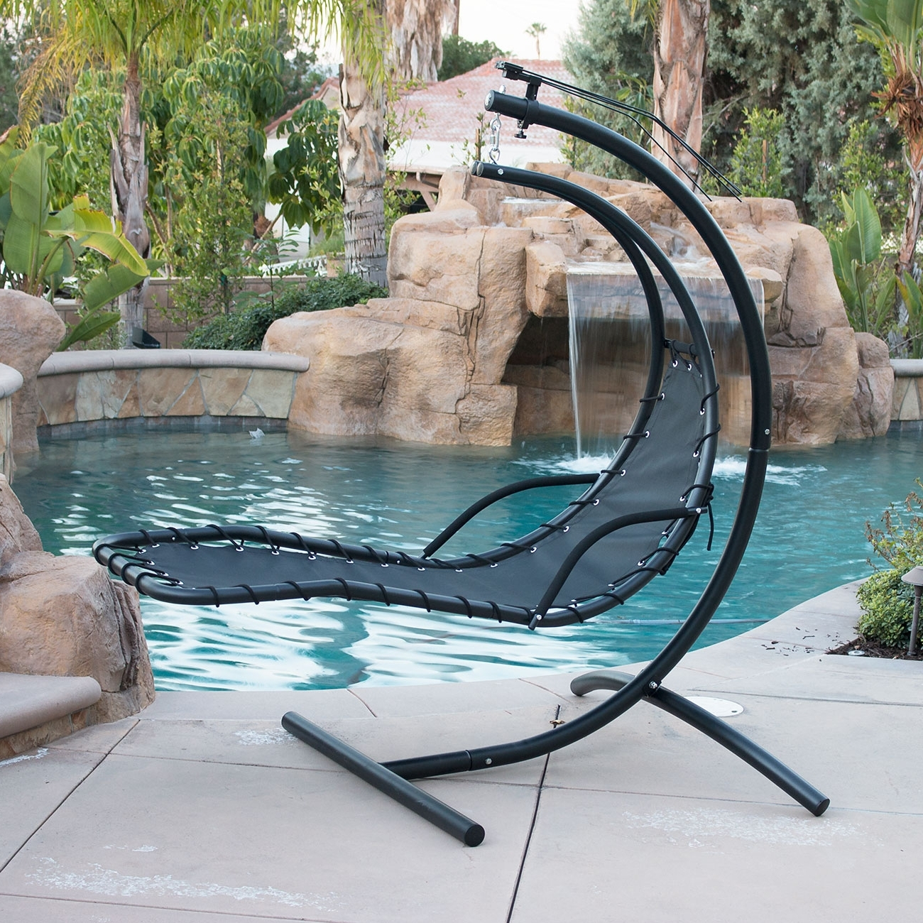 Outdoor Swinging Lounge Chair • Lounge Chairs Ideas Inside Best And Newest Chaise Lounge Swing Chairs (View 2 of 15)