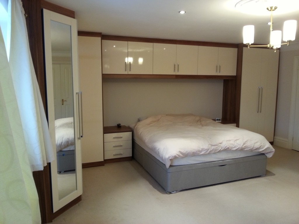 Over Bed Wardrobes Units Regarding Latest Fitted Wardrobes For A Large Bedroom (View 9 of 15)