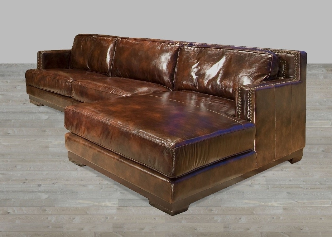 Oversized Leather Sectional Sofa Leather Sectional Sofas With In Popular Leather Couches With Chaise (View 13 of 15)