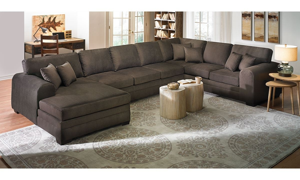 Oversized Sectionals With Chaise Intended For Fashionable Upholstered Sectional Sofa With Chaise (View 2 of 15)
