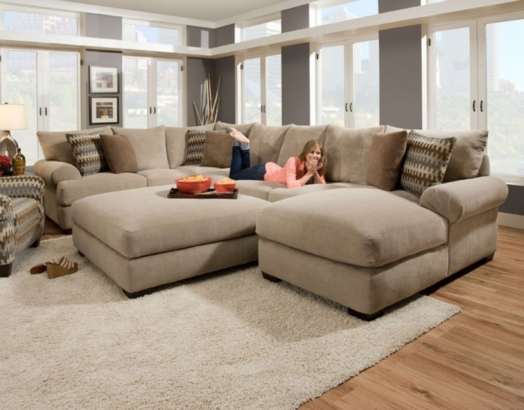 Oversized Sectionals With Chaise Intended For Newest Cozy Oversized Sectional Sofa — Awesome Homes : Super Comfortable (View 4 of 15)
