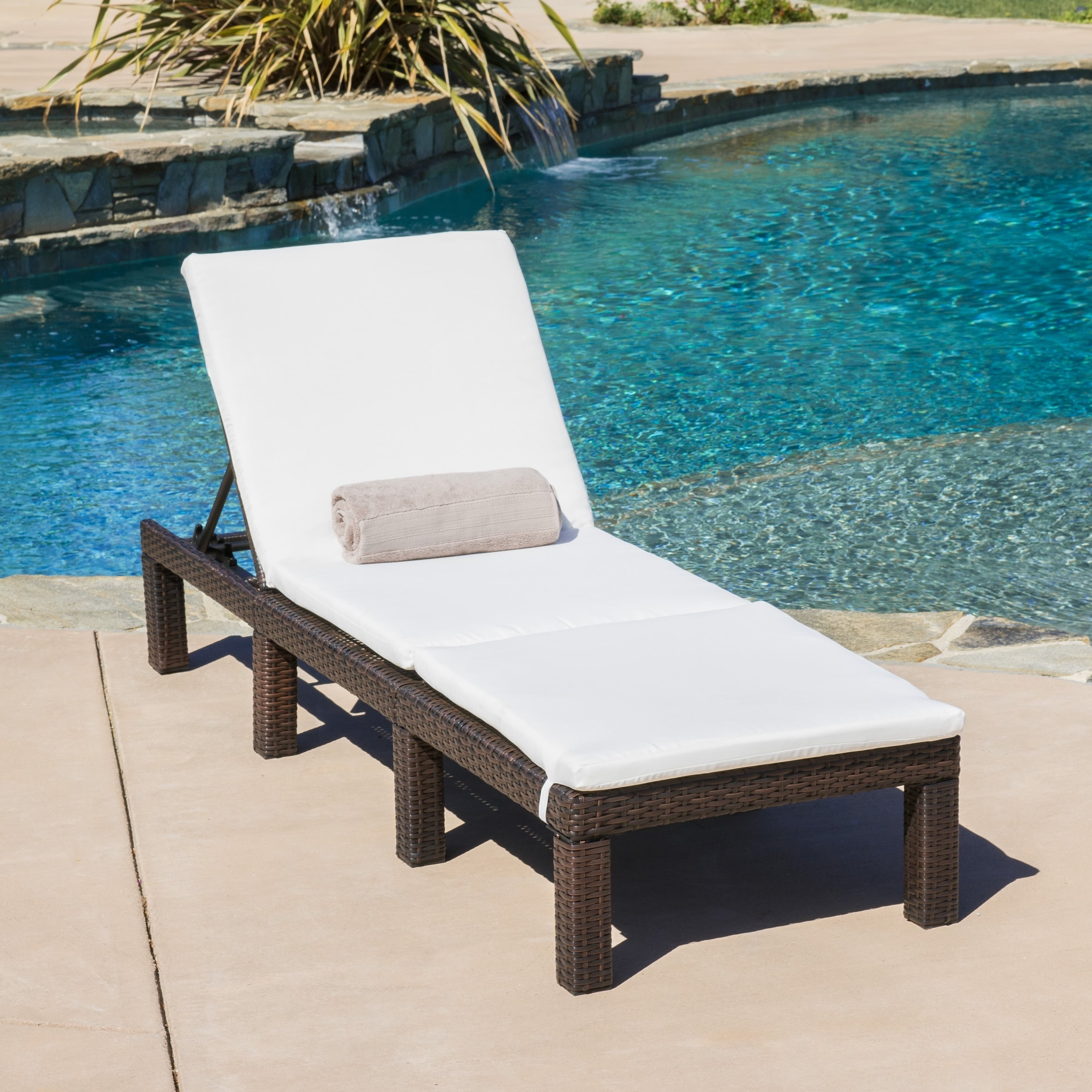 Overstock Outdoor Chaise Lounge Chairs Regarding Latest Jamaica Outdoor Chaise Lounge With Cushion (Set Of 2) (View 2 of 15)