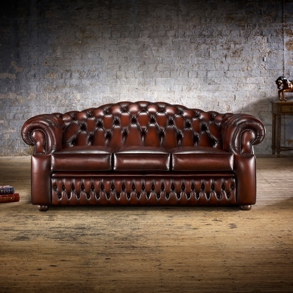 Oxford 3 Seater Sofa – From Timeless Chesterfields Uk With Well Known Oxford Sofas (View 5 of 10)