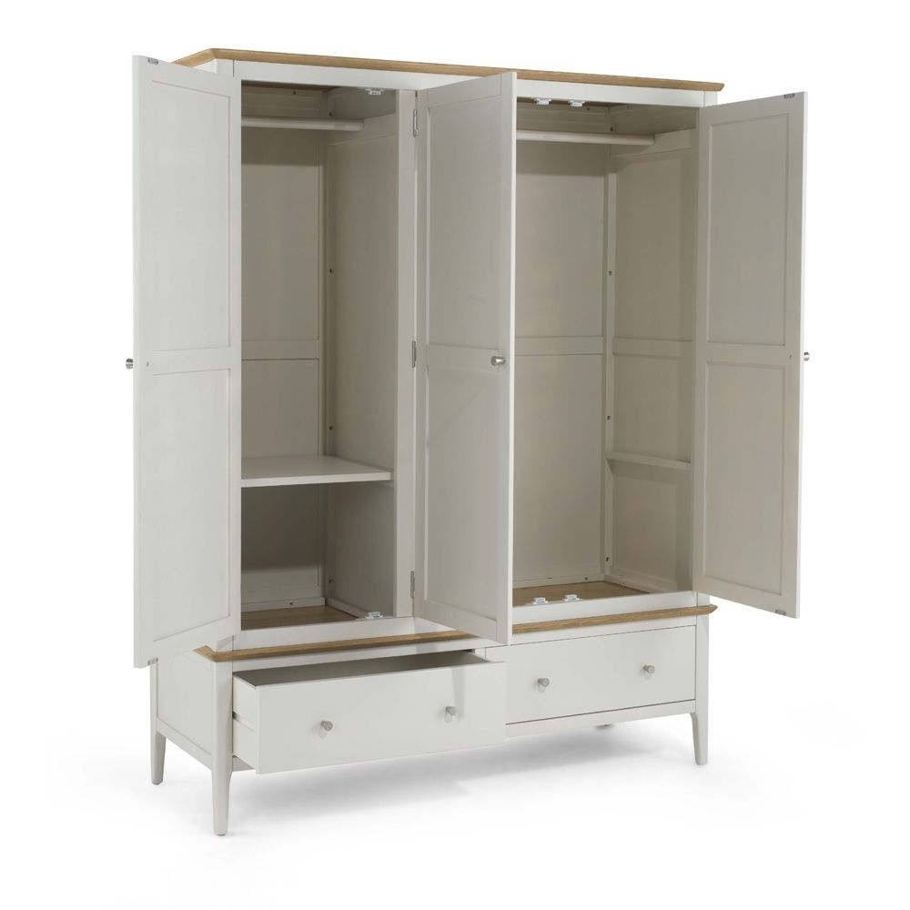 Painted Triple Mirrored Wardrobe For Most Popular Triple Mirrored Wardrobes (View 8 of 15)