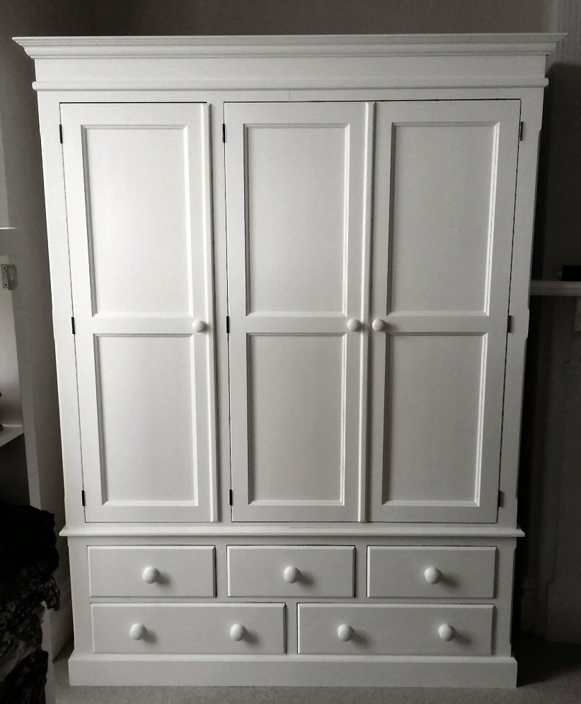 Painted Triple Wardrobes Inside Preferred Hotwells Pine – Made To Measure Furniture (View 8 of 15)