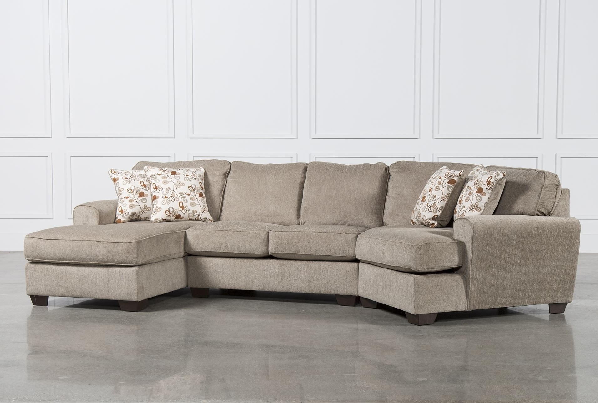 Patola Park 3 Piece Cuddler Sectional W/raf Corner Chaise (View 10 of 15)