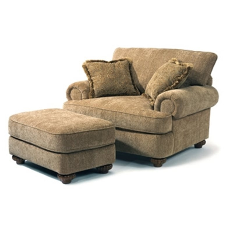 Patterson Fabric Chair & Ottoman – Eaton Hometowne Furniture Regarding Best And Newest Chairs With Ottoman (View 6 of 10)