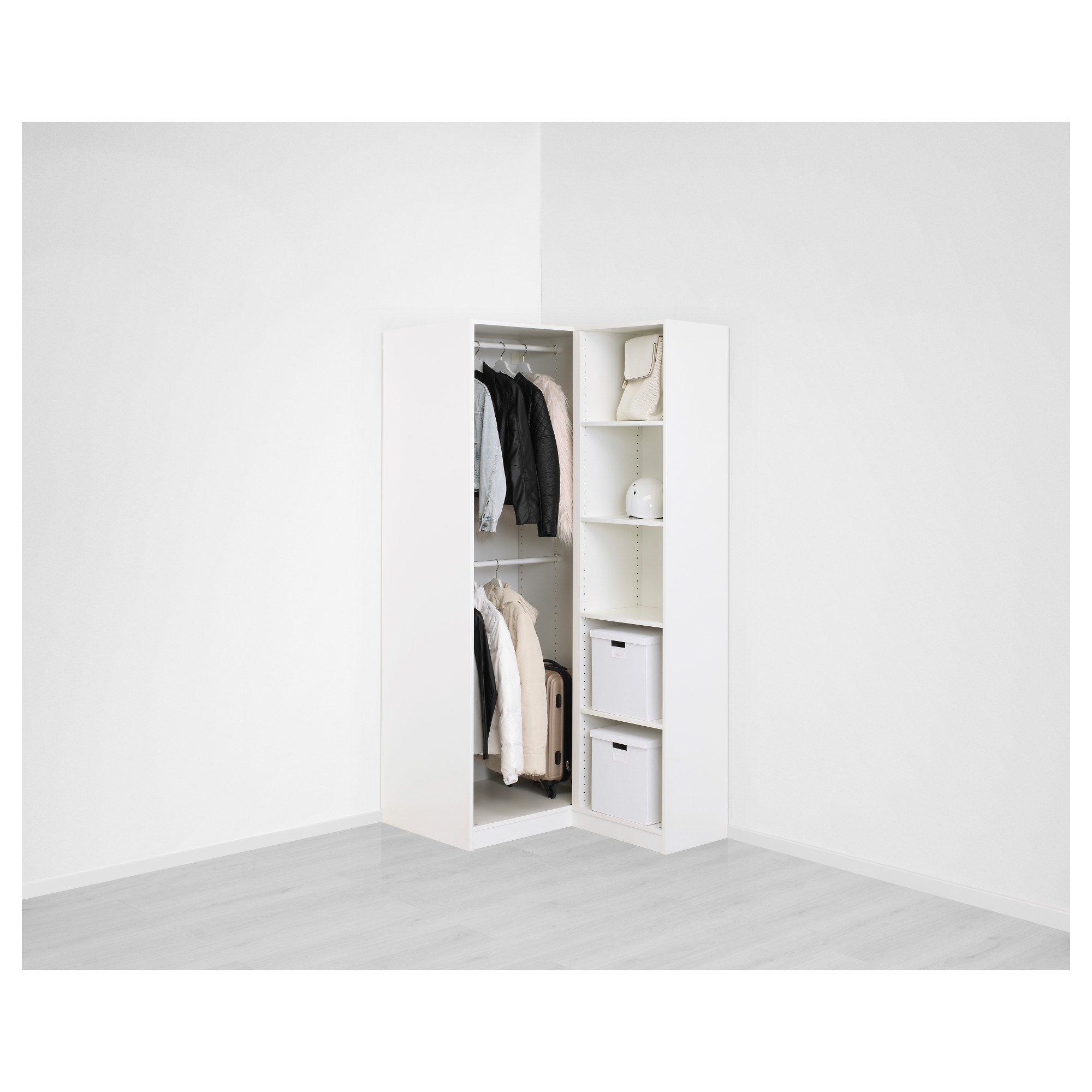 Pax Corner Wardrobe – 111/88X236 Cm – Ikea Regarding Fashionable White Corner Wardrobes Units (View 8 of 15)