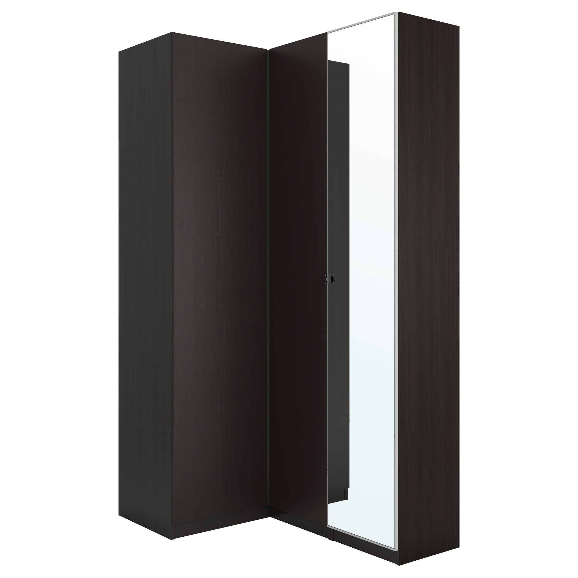 Pax Corner Wardrobe Black Brown/nexus Vikedal 160/88X236 Cm – Ikea Pertaining To Favorite Black Corner Wardrobes (View 14 of 15)