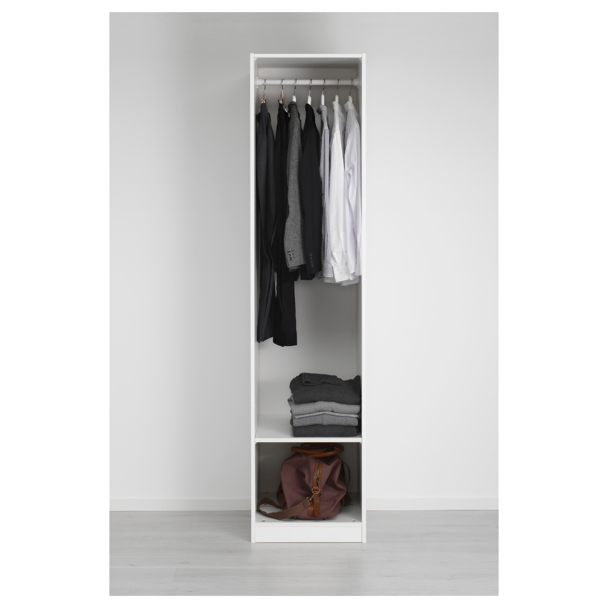 Pax Wardrobe White/vikedal Mirror Glass 50x60x201 Cm – Ikea Intended For 2017 Single Black Wardrobes (View 14 of 15)