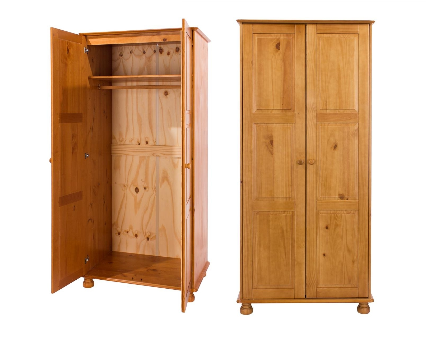 Pine Wardrobes Regarding Latest Wardrobe And Storage Box Dovedale Victorian Style Pine Furniture (View 8 of 15)
