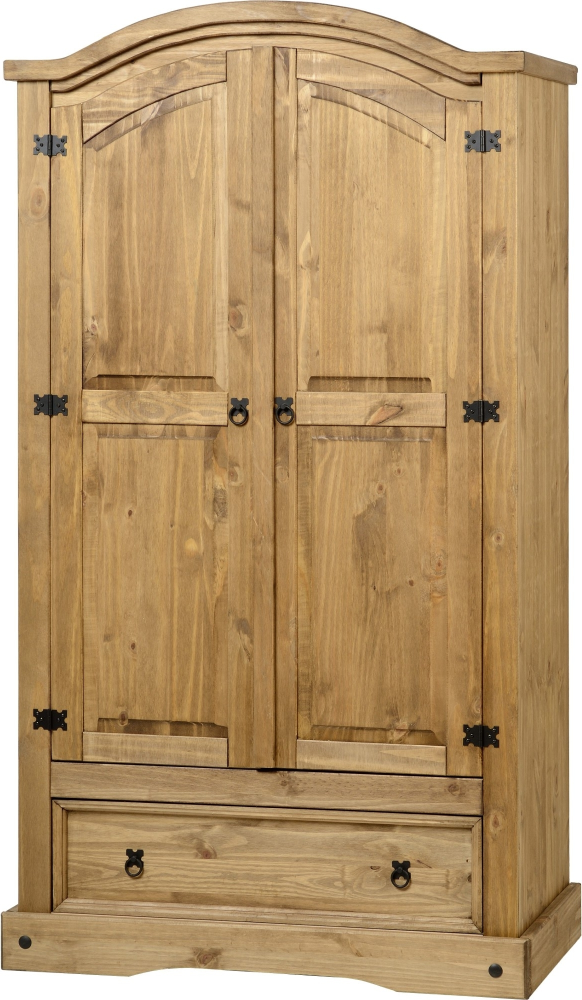 Pine Wardrobes With Drawers In Latest Corona Pine 2 Door Wardrobe With Drawer – Default Store View (View 10 of 15)