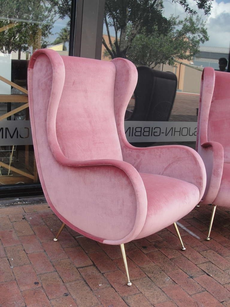 Pink Velvet Vintage Chaise Lounge Chair – Google Search (View 10 of 15)