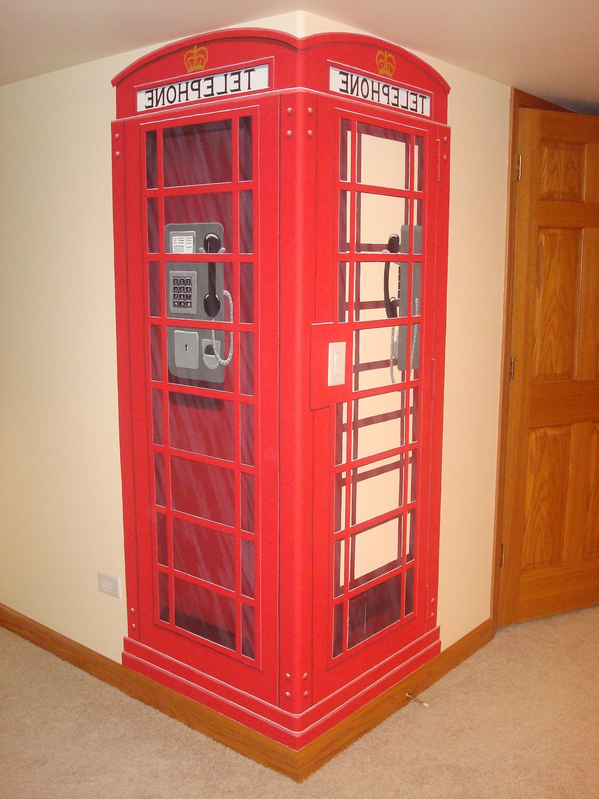 Plans For A K2 Red English Telephone Box With Dimensions (View 7 of 15)