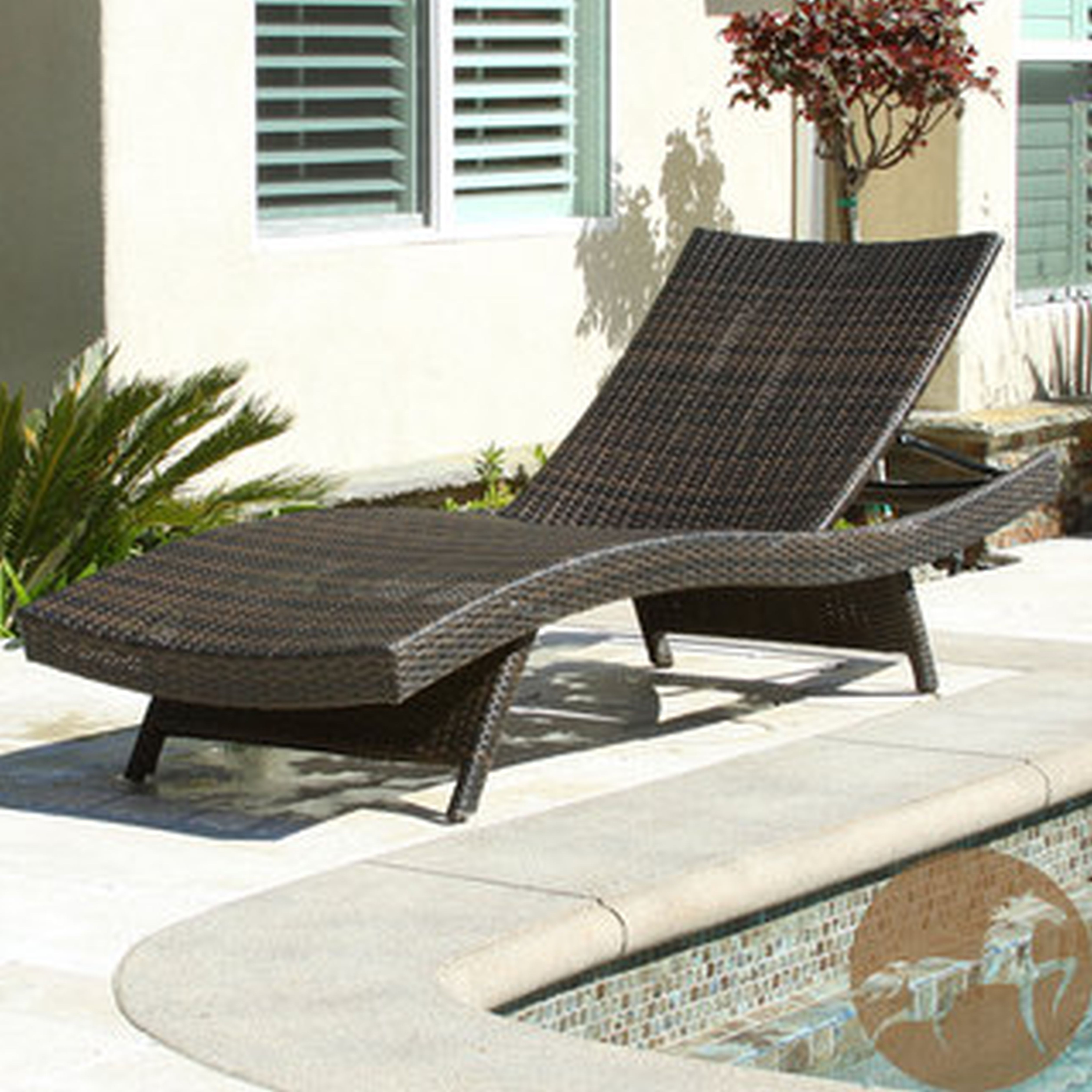Plastic Chaise Lounge Chairs For Outdoors With Trendy Convertible Chair : Cushions Rattan Chair Cushions High Back Patio (View 4 of 15)