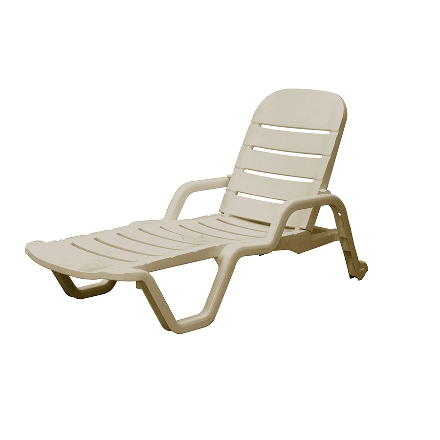 Plastic Chaise Lounges For Most Popular Shop Adams Mfg Corp Desert Clay Resin Stackable Patio Chaise (View 6 of 15)