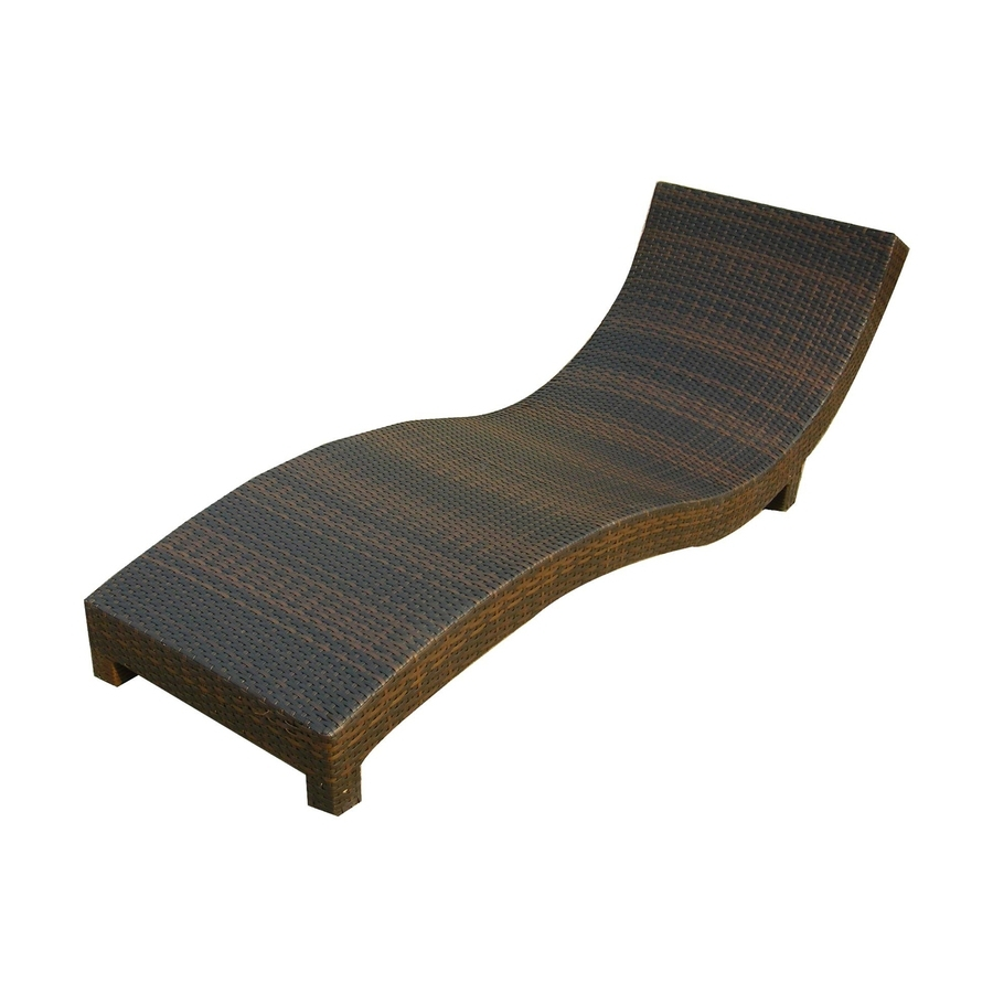 Plastic Chaise Lounges In Latest Shop Best Selling Home Decor Cabo Multi Brown Plastic Patio Chaise (View 7 of 15)