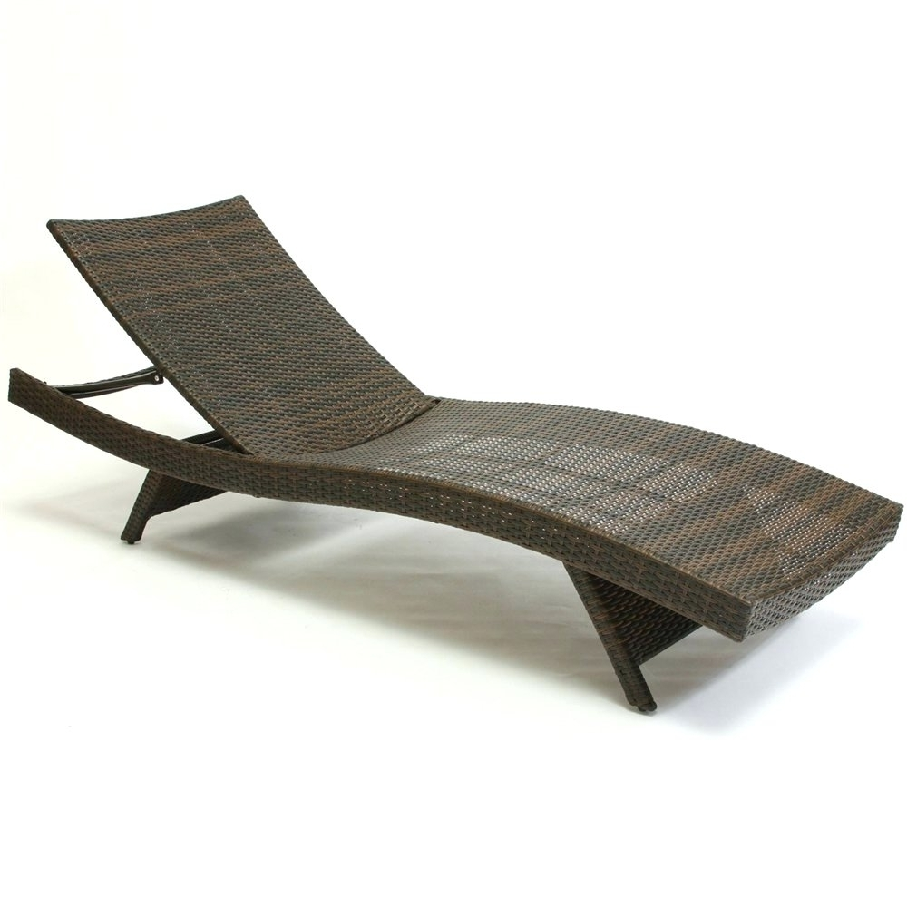 Plastic Pool Deck Lounge Chairs • Lounge Chairs Ideas For Widely Used Eliana Outdoor Brown Wicker Chaise Lounge Chairs (View 15 of 15)