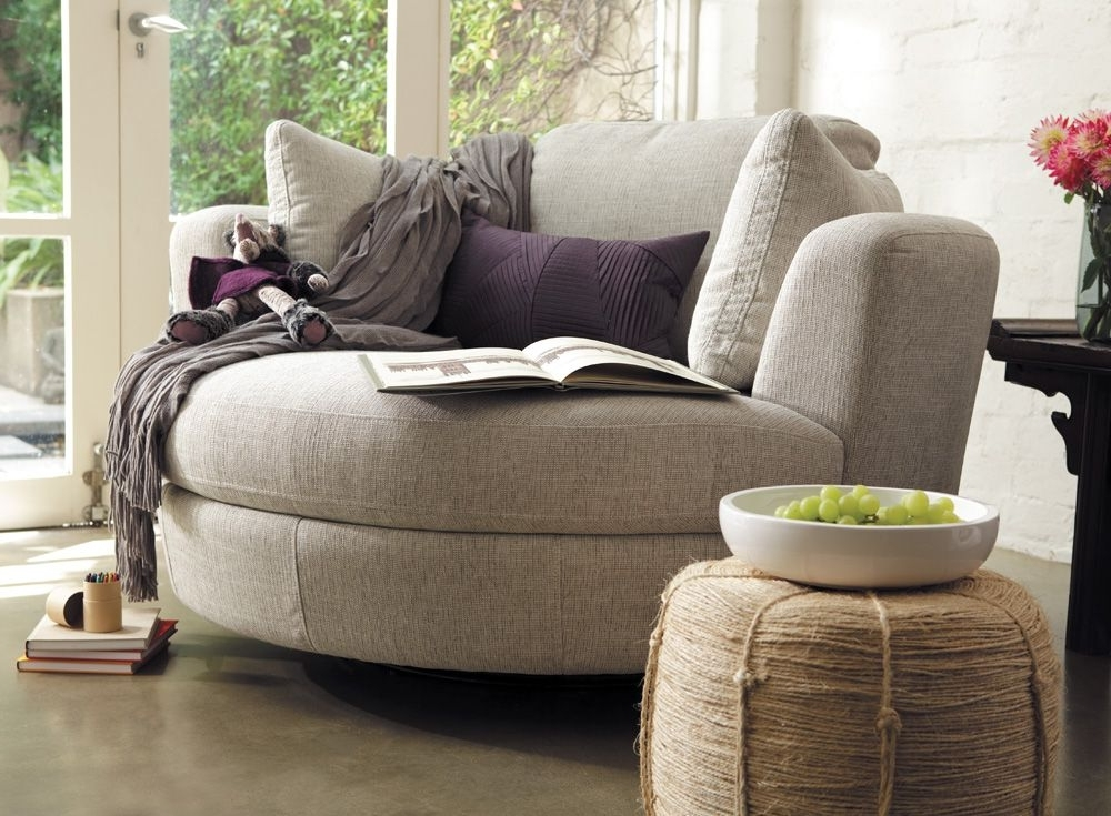 Featured Photo of Cuddler Swivel Sofa Chairs