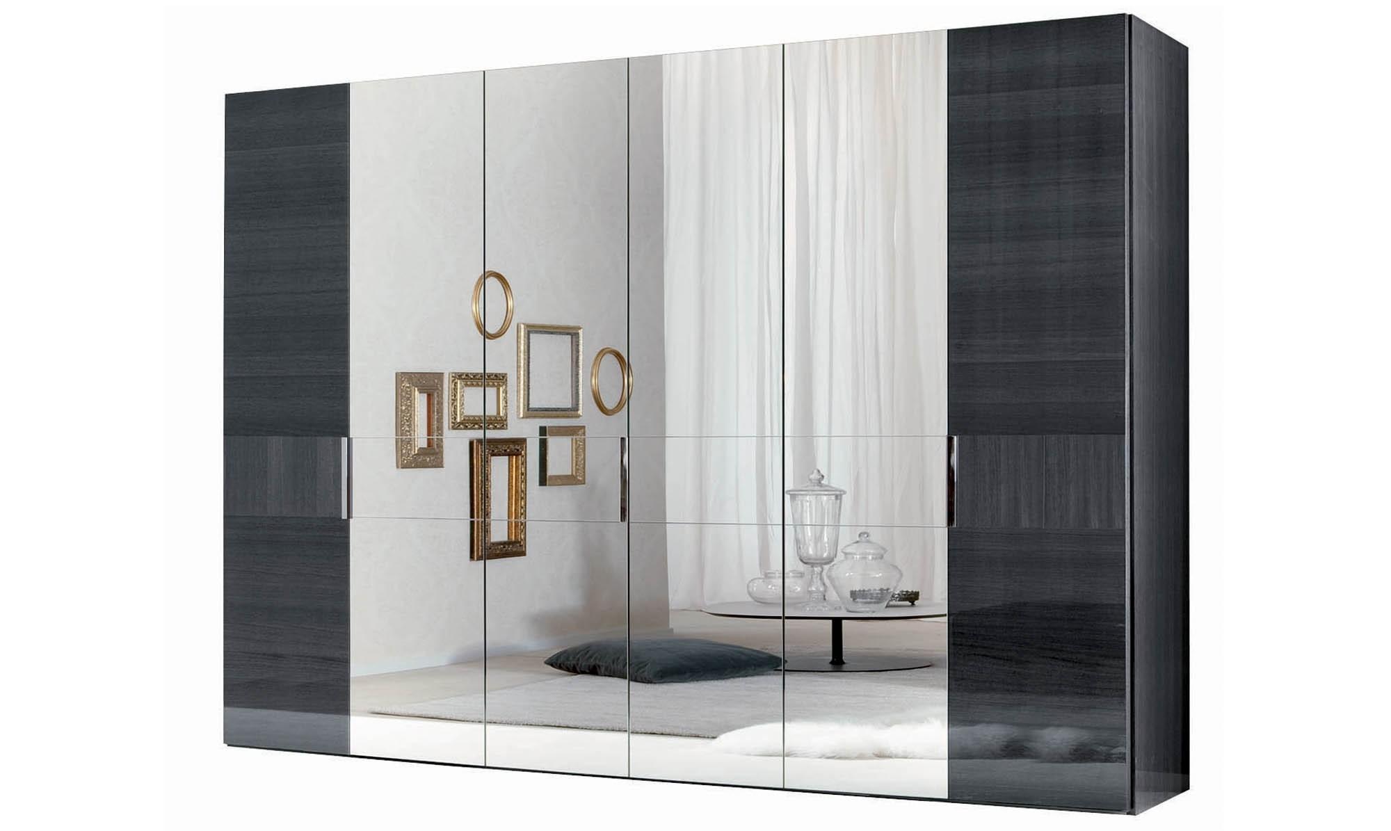 Popular 4 Door Mirrored Wardrobes For Antibes – 6 Door Hinged Wardrobe 4 Mirror Doors Finish – All (View 6 of 15)