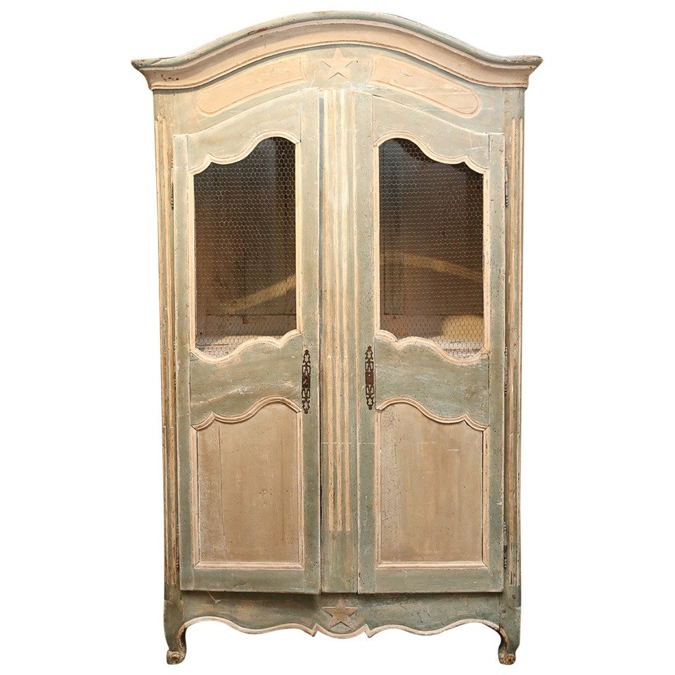 Popular Antique French Wardrobes With Painted French Armoire For Sale At 1Stdibs (View 10 of 15)