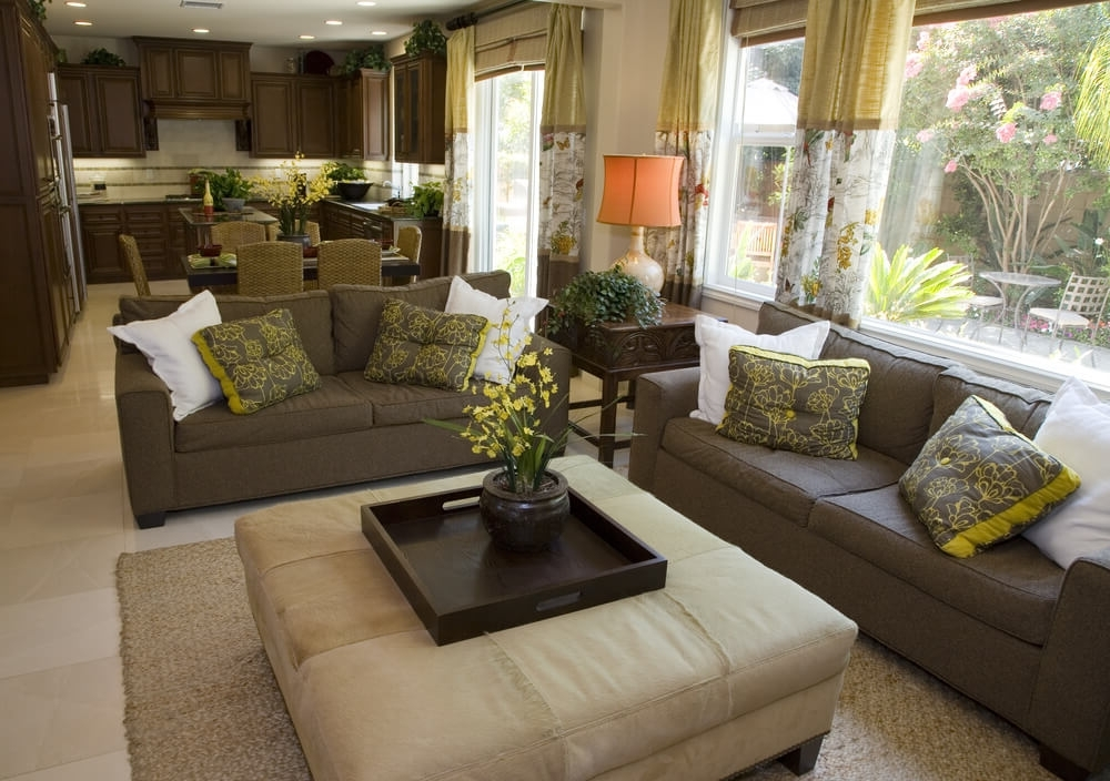 Popular Beautiful Living Rooms With Ottoman Coffee Tables Within Couches With Large Ottoman (View 7 of 10)