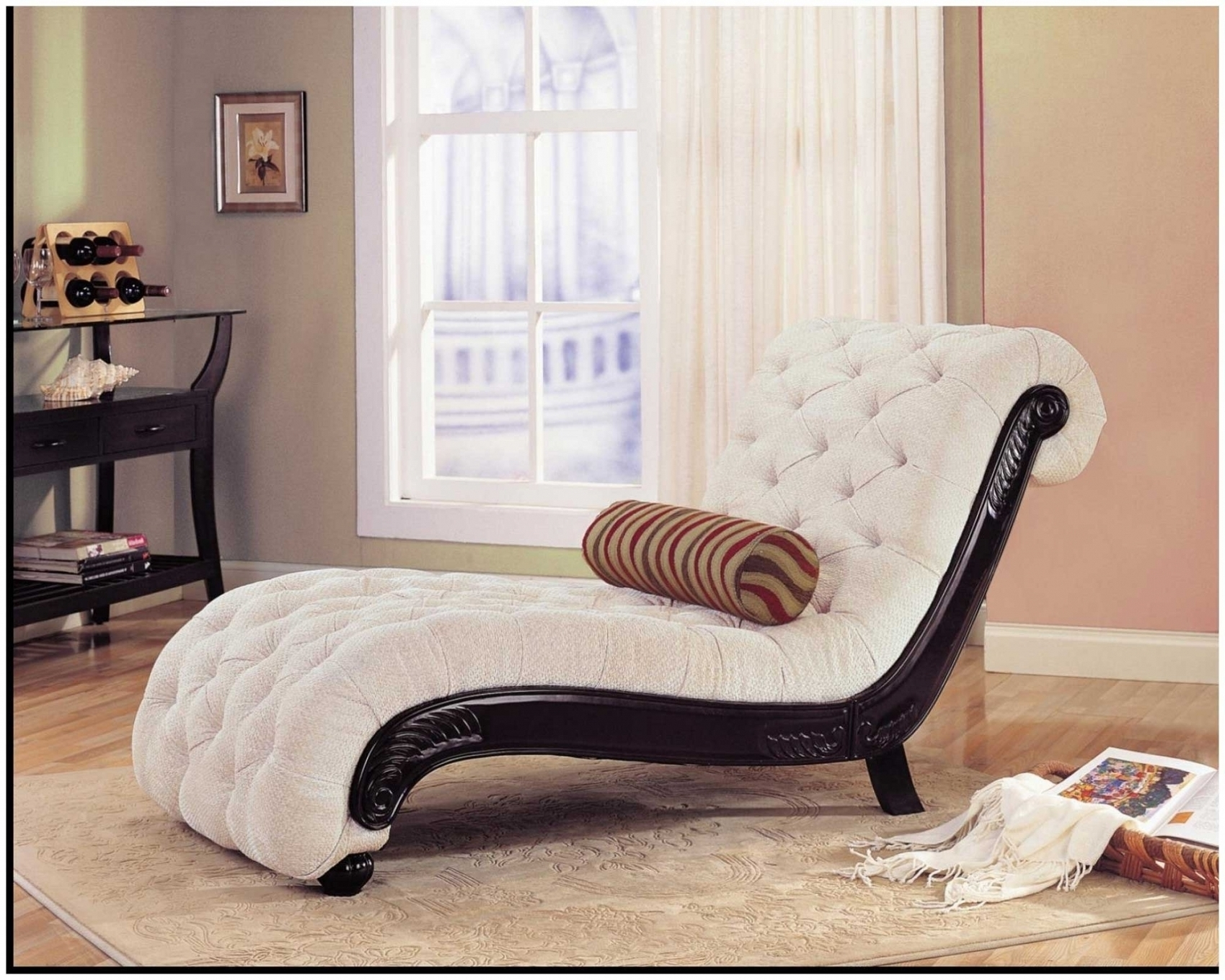 Popular Bedroom Chairs Indoor Chaise Lounge Chairs White Colour Indoor For Intended For Luxury Chaise Lounge Chairs (View 6 of 15)