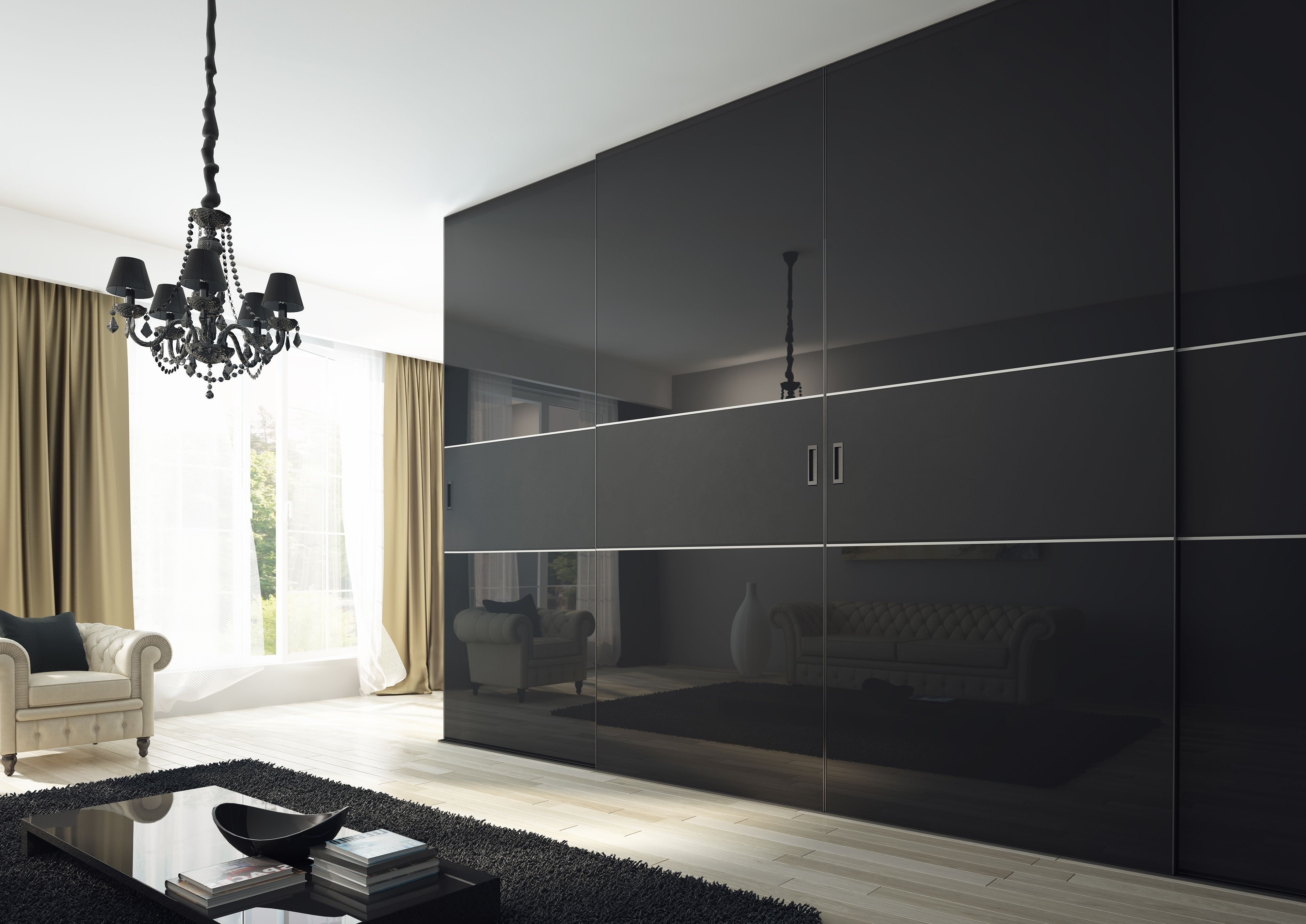 Popular Black Gloss Wardrobes In Pinάννα Μαρία On Ιματιοθήκες – Wardrobes (View 11 of 15)