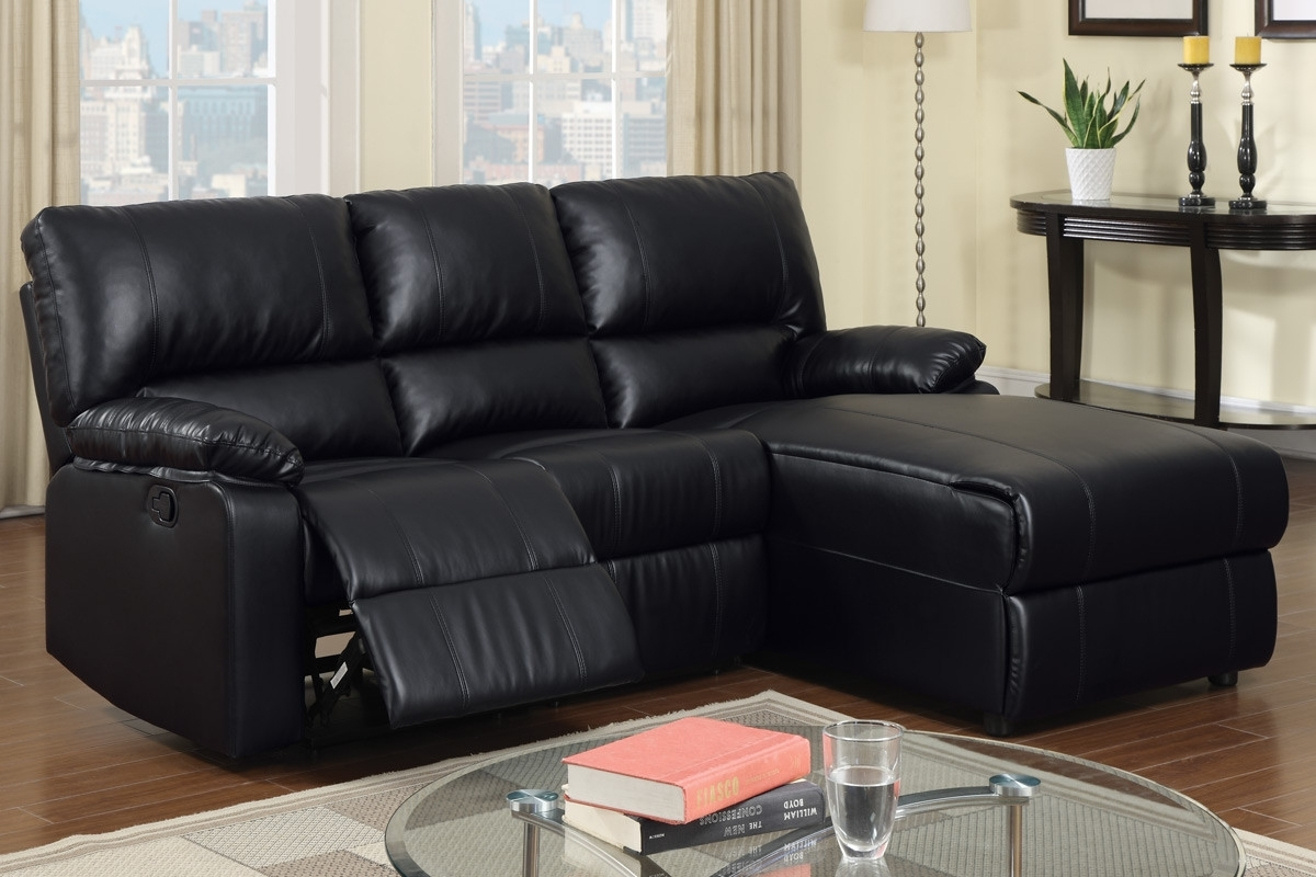 Popular Black Leather Sectional With Chaise Sectional Sofas With Recliners Regarding Chaise Recliners (View 3 of 15)