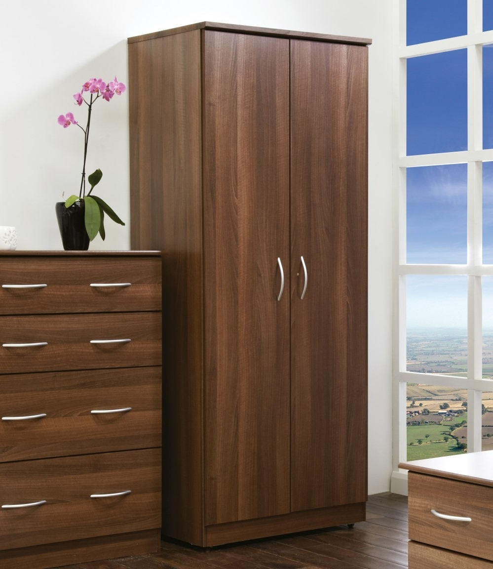Popular Brown Wardrobes In Avon Double Wardrobe, Dark Brown Double Wardrobe, Fully Assembled (View 12 of 15)