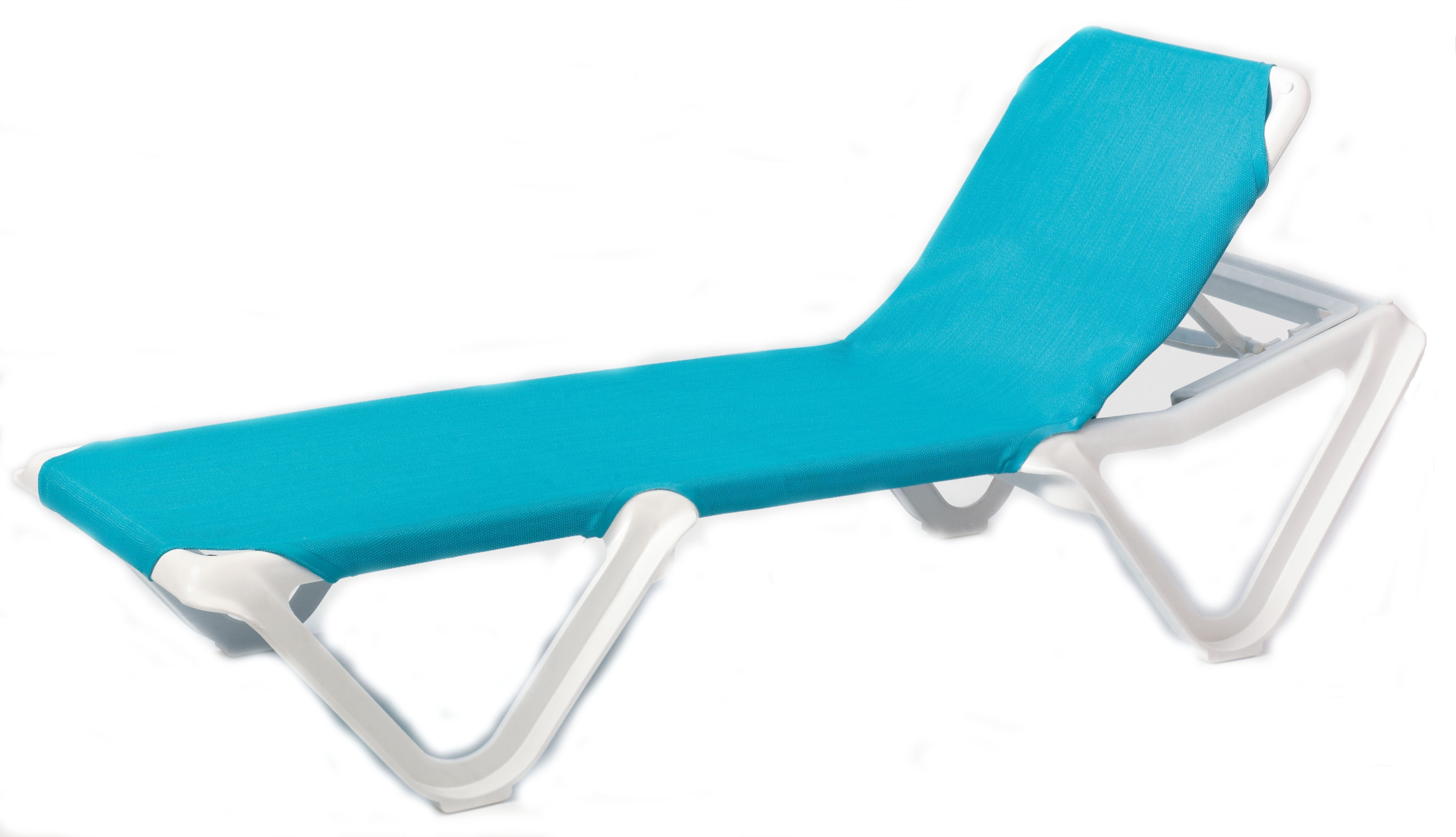 Popular Chaise Lounge Chairs Without Arms Regarding Grosfillex Nautical Adjustable Resin Sling Chaise Lounge Chair W/o (View 13 of 15)