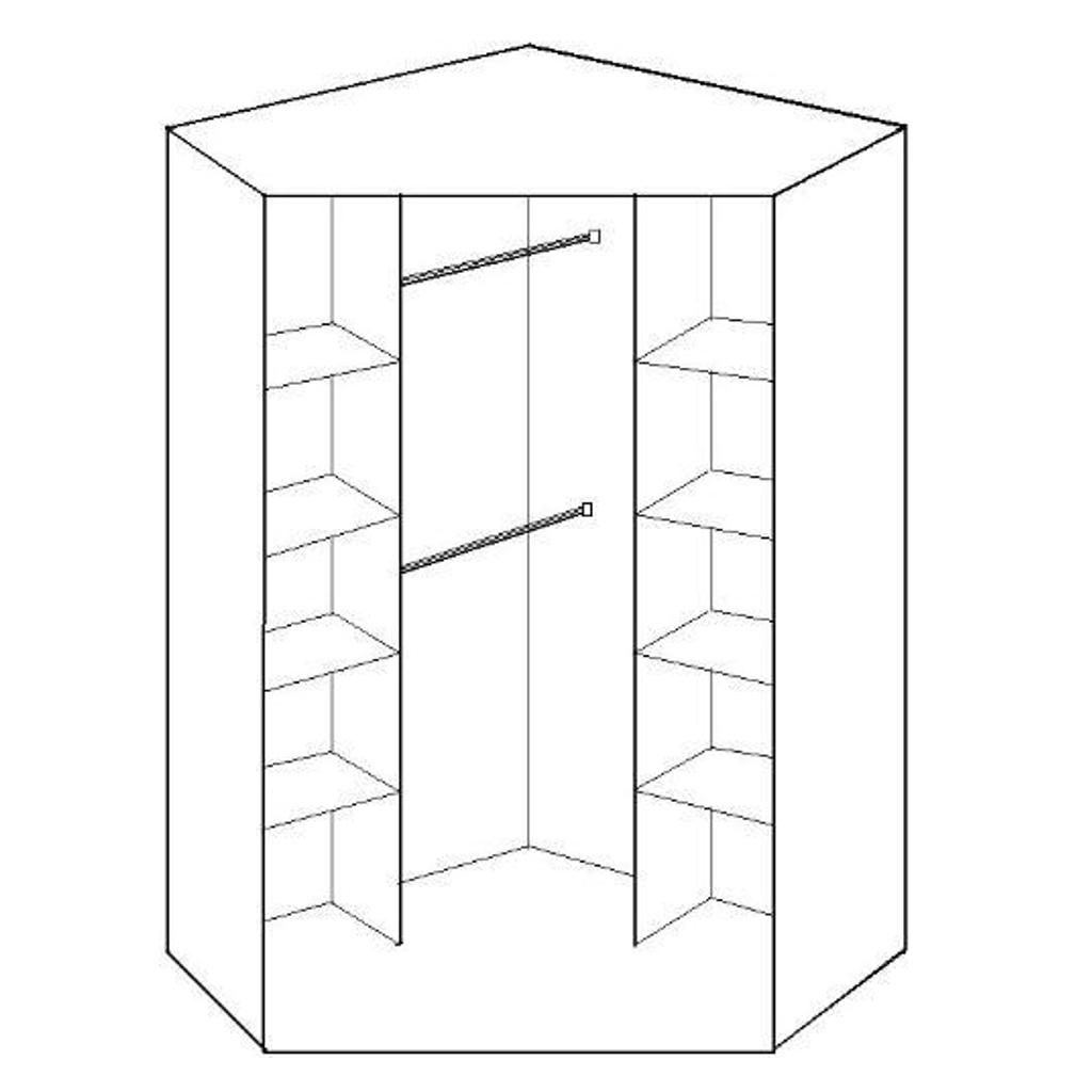 Popular Corner Mirror Wardrobes Within Gamma Oak & Mirrored Corner Wardrobe (View 15 of 15)