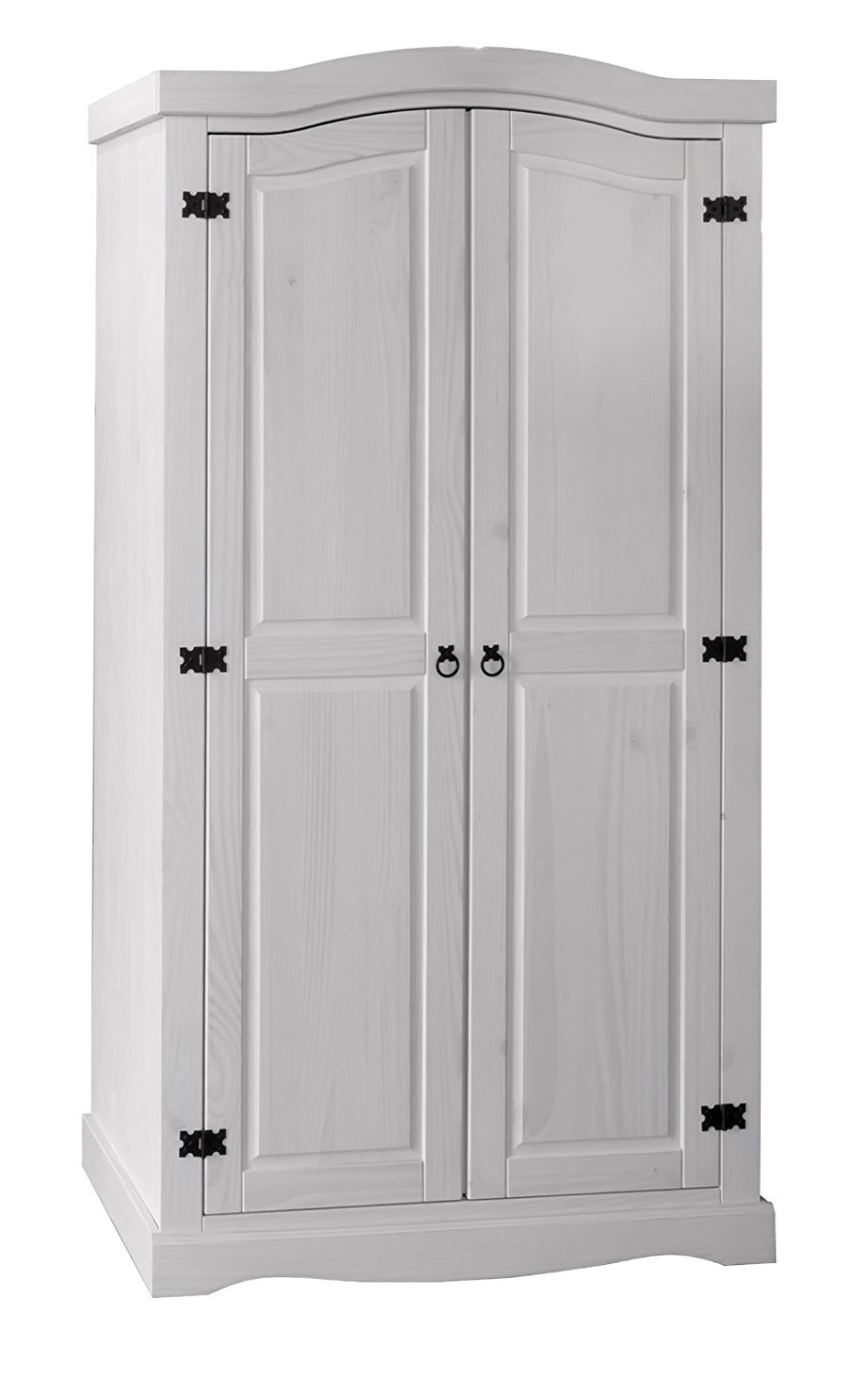 Popular Corona White Pine 2 Door Wardrobe Corona Whitewash Furniture With Regard To White And Pine Wardrobes (View 9 of 15)