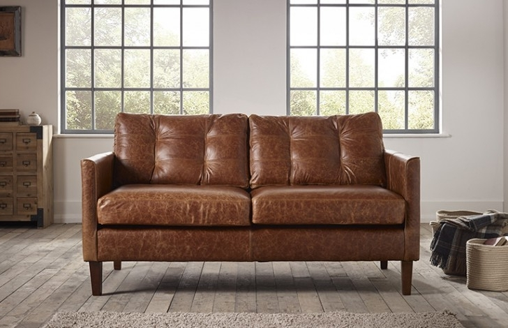 Popular Cromer Small Leather Sofa (View 9 of 10)