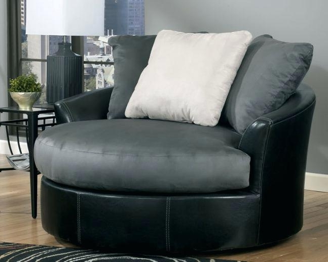 Popular Cuddler Swivel Sofa Chairs With Oversized Round Chair Round Swivel Sofa Chair 6 Spinning Endearing (View 8 of 10)