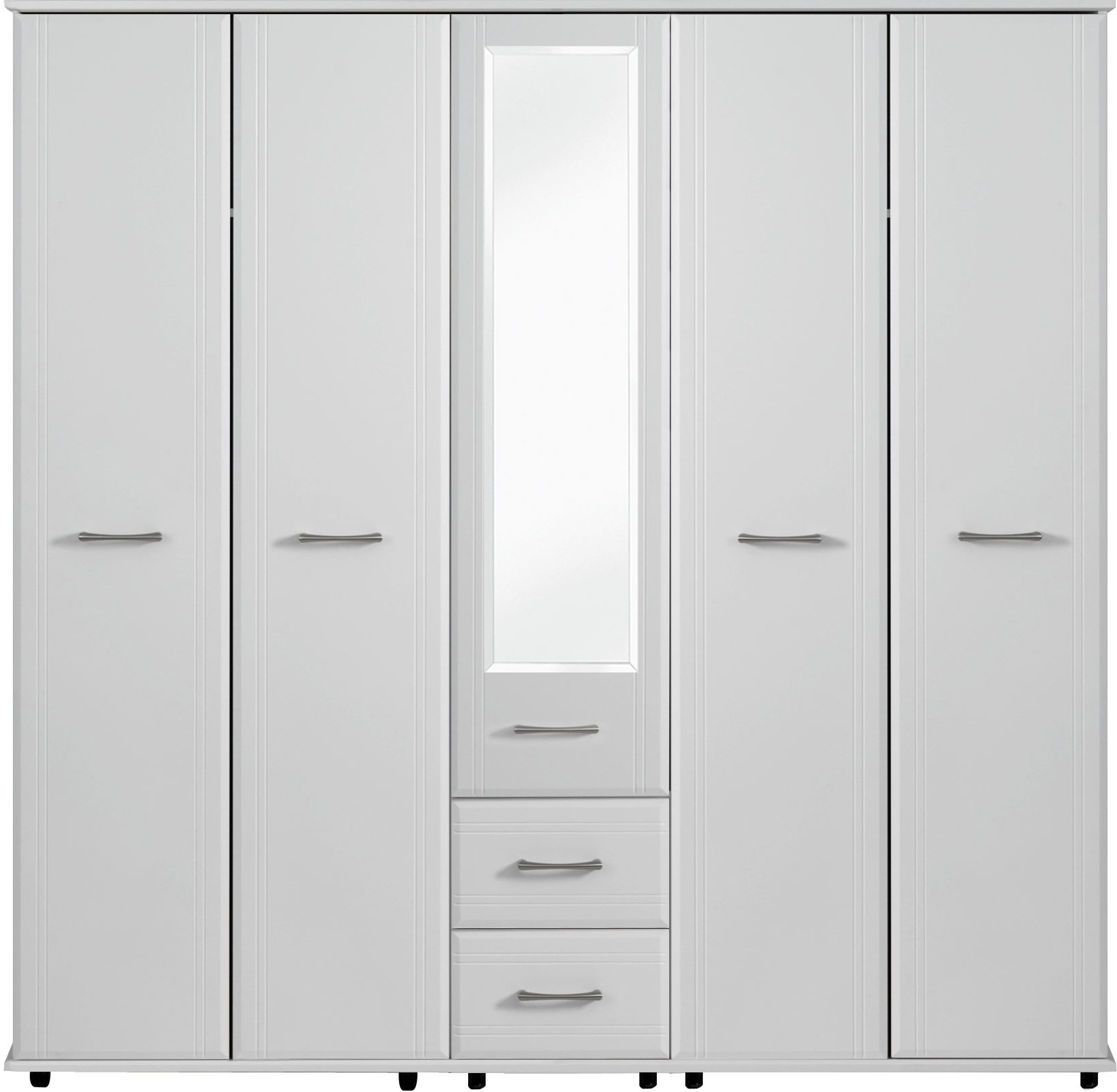 Popular Dorchester 5 Door Wardrobe 1 Mirror 2 Drawers (View 12 of 15)
