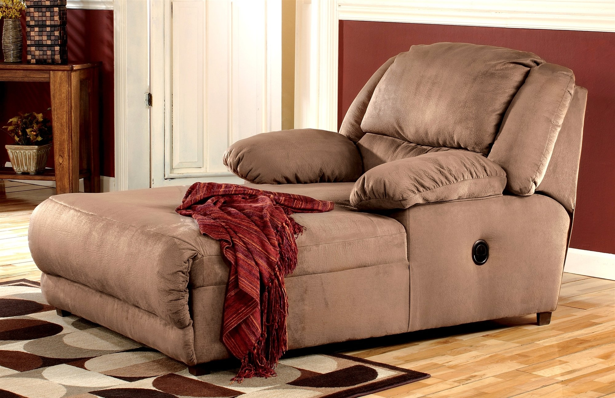 Popular Double Chaise Lounges For Living Room In Lounge Chair : Small Bedroom Chaise Lounge Chairs Small Chaise (View 10 of 15)