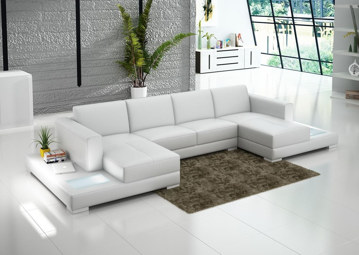 Popular Double Chaise Sectional For Complete And Perfect Welcoming Living For Double Chaise Sofas (View 7 of 15)