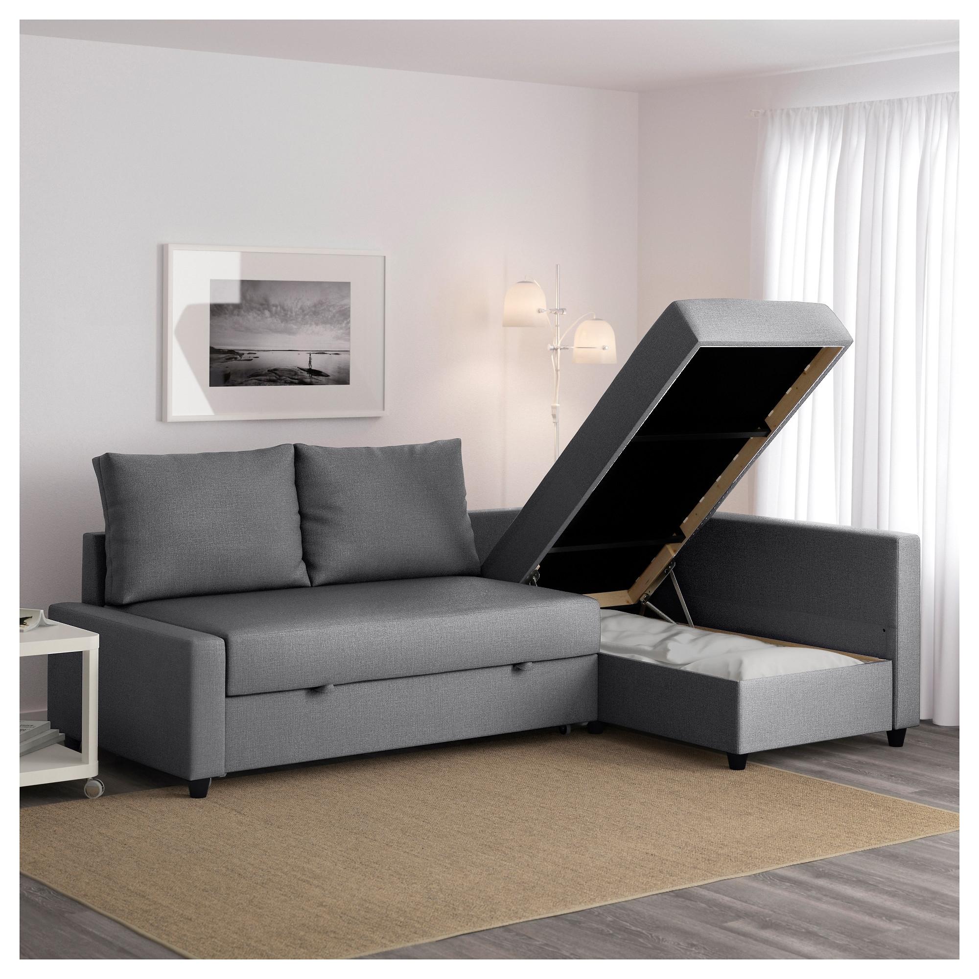 Popular Friheten Corner Sofa Bed With Storage Skiftebo Dark Grey – Ikea With Regard To Chaise Sofa Beds (View 6 of 15)