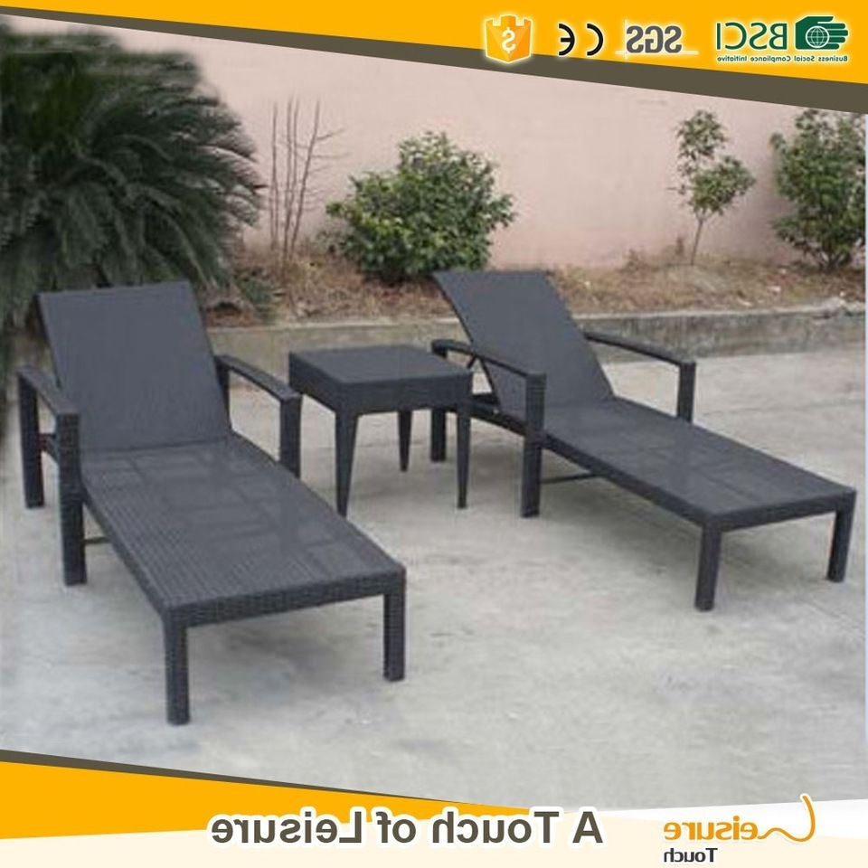 Popular Hotel Chaise Lounge Chairs For Best Selling Pe Rattan Beach Sun Lounge Chair & Pool Chaise Lounge (View 15 of 15)