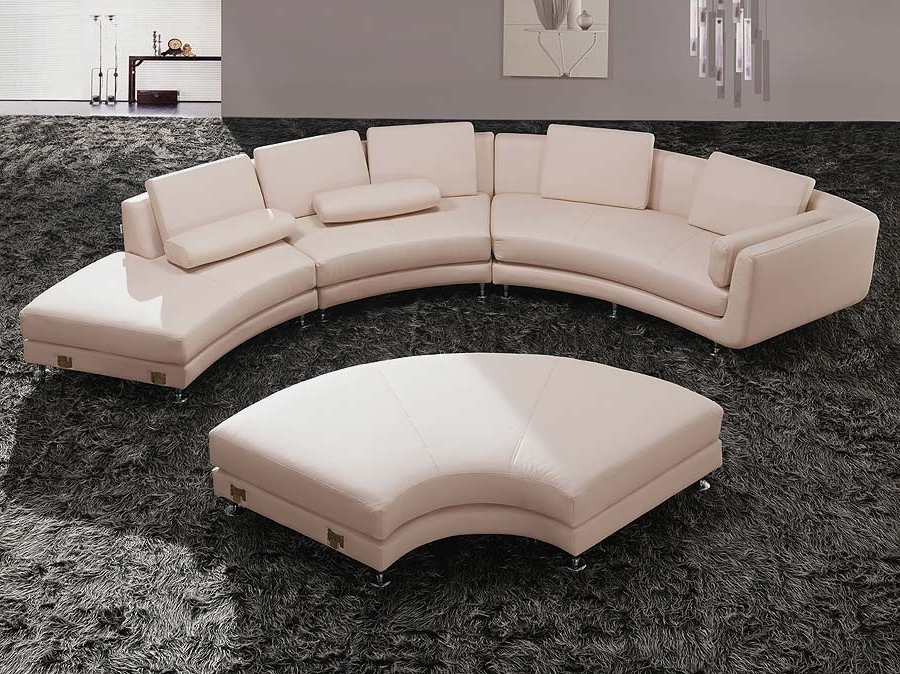 Popular Indoor Beauty Enhancementthe Use Of The Round Sectional Sofa Regarding Round Sofas (View 7 of 10)