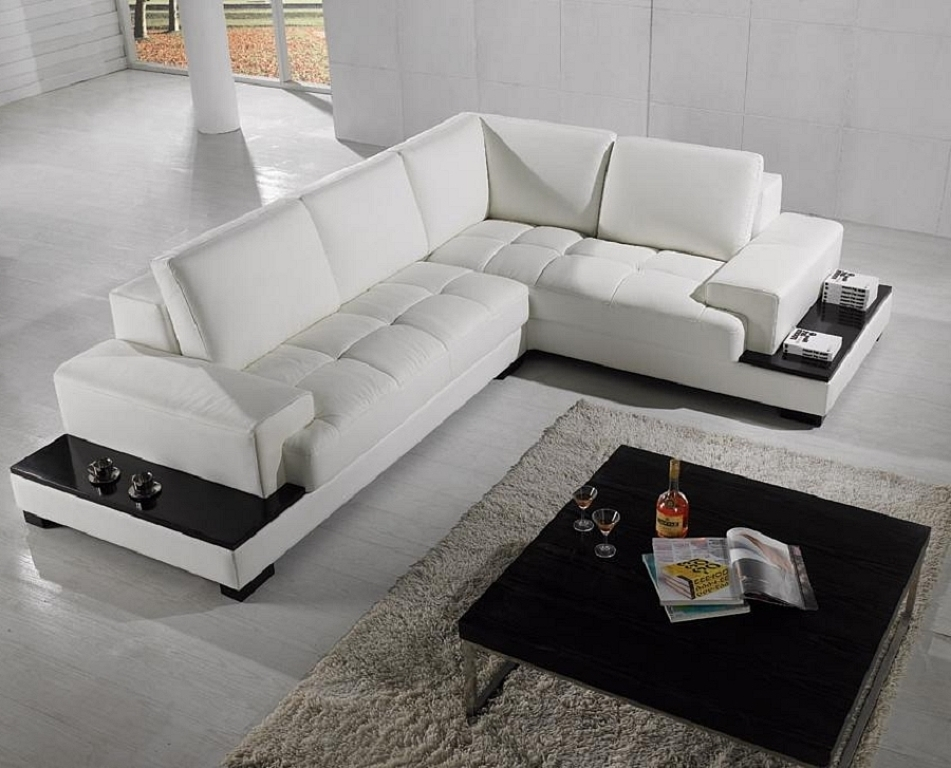 Popular L Shaped Sofas Inside Beige L Shaped Sofa Leather — Fabrizio Design : L Shaped Sofa For (View 7 of 10)