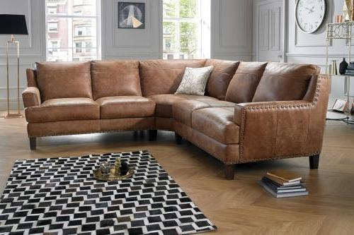 Popular Leather Corner Sofas With Great Leather Corner Sofa With Corner Sofas In Leather Fabric (View 6 of 10)