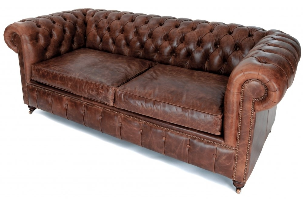Popular Lovable Old Leather Sofa Vintage Leather Chesterfield Sofa Rooms In Vintage Chesterfield Sofas (View 2 of 10)