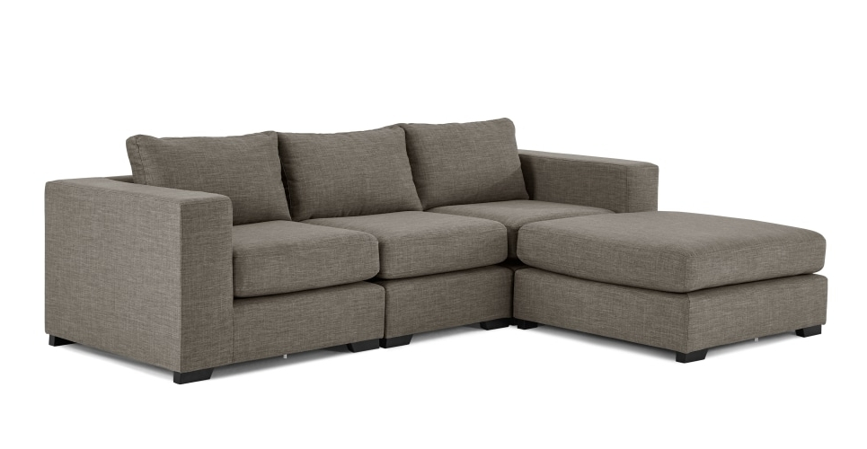 Popular Modular Corner Sofas Regarding Mortimer 4 Seat Modular Sofa, Chalk Grey (View 9 of 10)