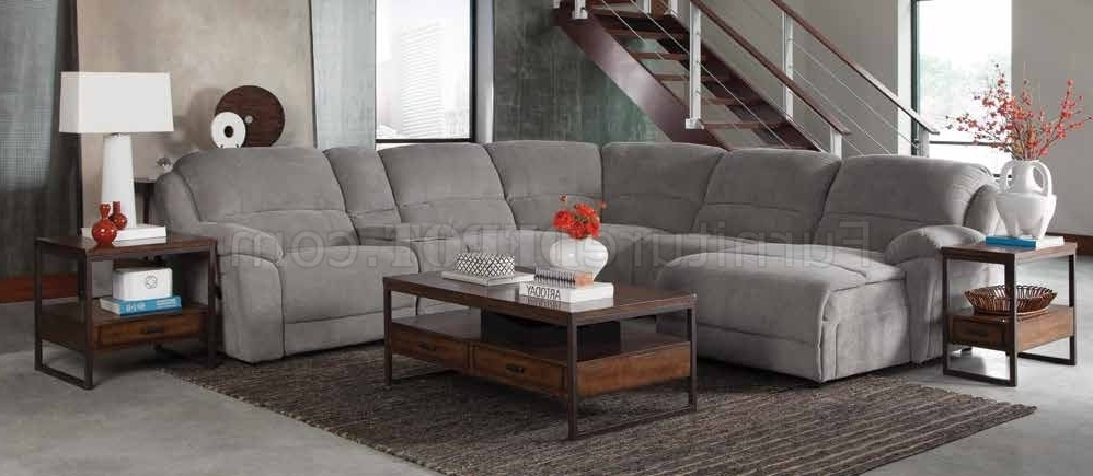 Popular Motion Sectional Sofas Throughout Mackenzie 600017 6Pc Motion Sectional Sofa In Fabriccoaster (View 9 of 10)